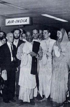 Srila Prabhupada in Airport