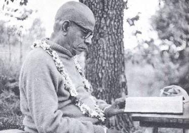 Srila Prabhupada Reading Book