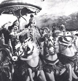 Lord Krishna with Arjuna