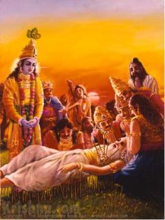 The Passing of Grandfather Bhisma by Satsvarupa Dasa