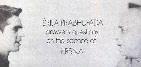 Convertion Between Srila Prabhupada and Devotee