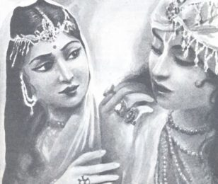 Krsna With His Wife