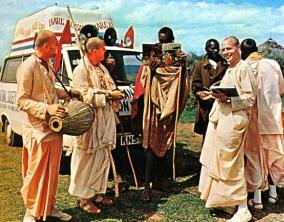 Devotees in Africa