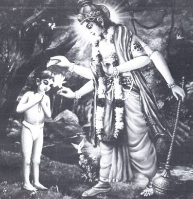 Dhruva Maharaj and Lord Vishnu