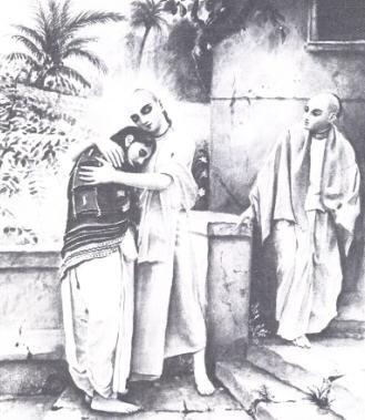 Lord Sri Caitanya with Sanatana Goswami