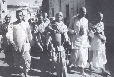 With Srila Prabhupada in Vrindavana