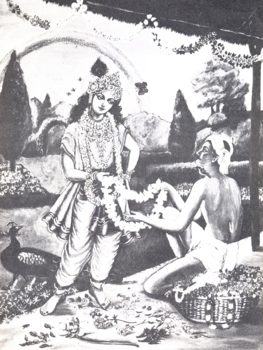 Offering Garland To Lord