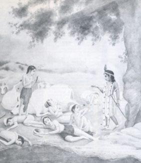 Krsna's Subduing the Serpent Kaliya by Satsvarupa Dasa Goswami