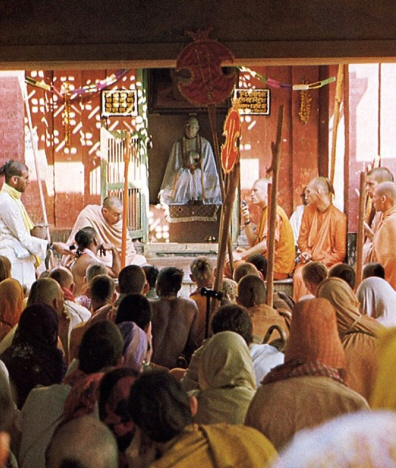 ISKCON Devotees at Srila Bhaktivinoda Thakura Home in Godruma-Dvipa