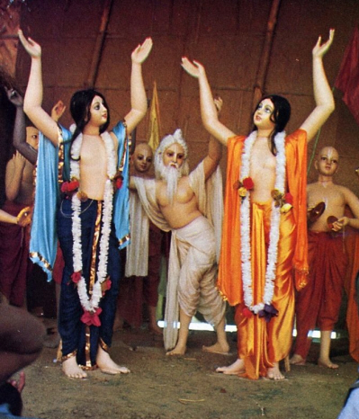Lord Caitanya And His Associate Dance And Chant Hare Krsna Mantra