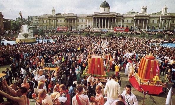 Sankirtana at ISKCON's Annual Ratha-Yatra Festival in London