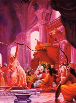 Arjuna Pierced the target