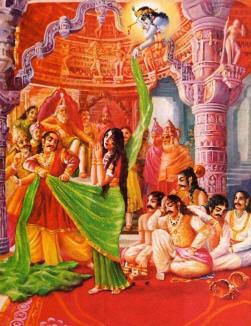 Krishna Helping Draupadi