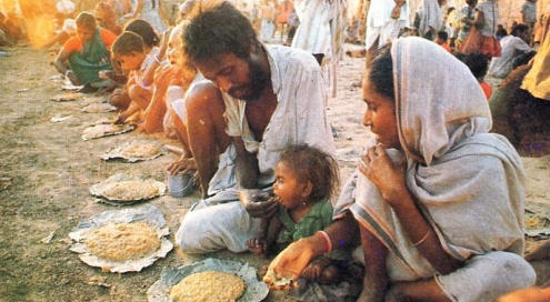 Piligram Eats Krsna Prasadam