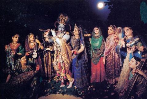 Srimati Radharani With Gopis