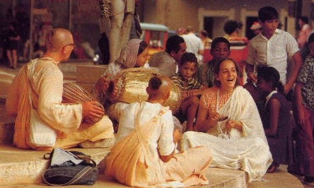 Devotees Leads Kirtan