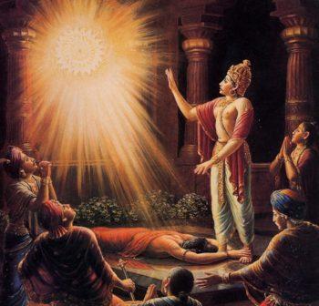 The Yogi Retraced his Flight Back To Earth. Upon Reaching King Ambarisa Palace