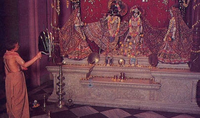Gurukul Children  Deity Worshiping