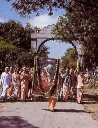 Krsna's Town Gets Bhaktivedanta Gate