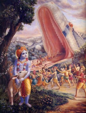 The Killing Of the Great Python by Drutakarma Dasa
