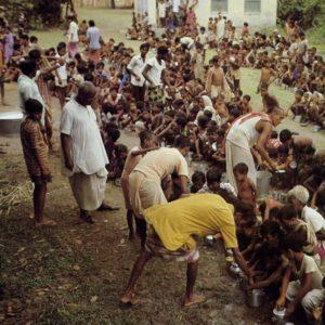 Devotees Distributing Prasadam