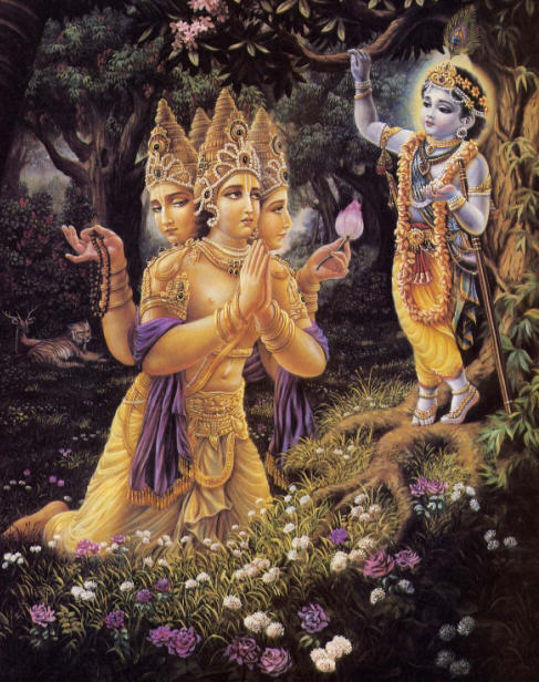 The Prayers Of Lord Brahma by Drutakarma Dasa