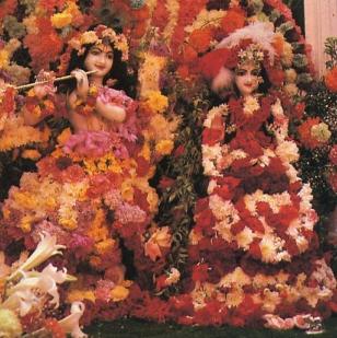 Flower Dressing of Radha Krsna
