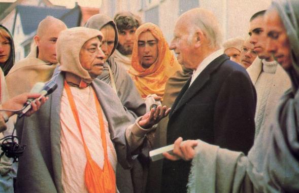 Srila Prabhupada With Prof. Durckheim