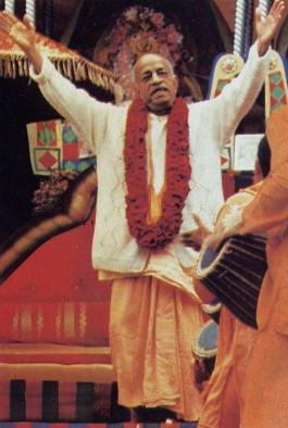 Srila Prabhupada Leads Kirtan