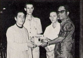 Srila Prabhupada-Krpa Goswami Present ISKCON Publication to The Governor of Bali