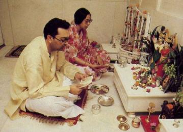 Ceremony Before the Deity of Krishna