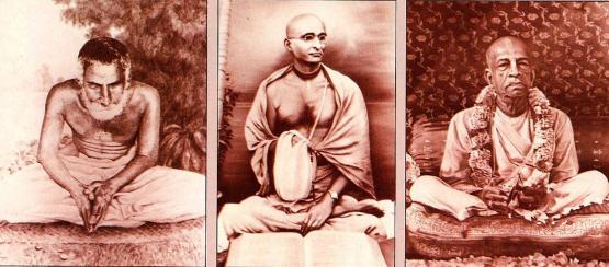Srila Gaurakisora Dasa Babaji , Srila Bahktisiddhanta Sarasvati Thakura and Srila Prabhupada