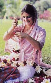 Making Garlands for Krishna