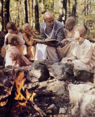 Bhurijana Prabhu Teaching to Students