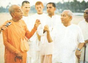 Prabhupada with Dr. Patel