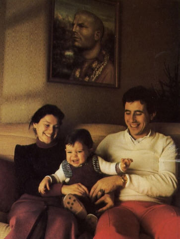 Jean Claude Halliche With His Family