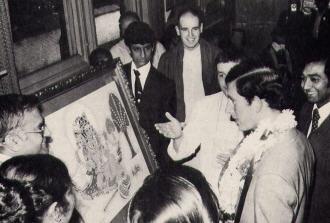 Prince Charles Gets Radha-Krsna Painting