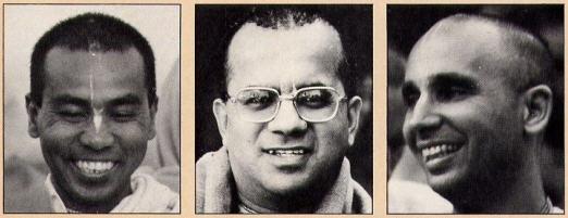 Srila Bhaktisvarupa Damodara Swami, Gopala Krsna Goswami and Pancadravida Swami