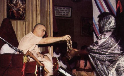 Srila Kirtanananda Swami at Inititiation Festival in Lagos, Nigeria