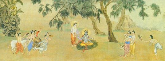 Krsna in Vrndavan Forest