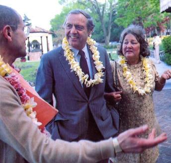 Srila Ramesvara Swami Welcomes Mr. And Mrs. Walter Bhul Ford