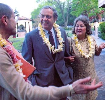 Srila Ramesvara Swami Welcomes Mr. And Mrs. Walter Bhul Ford