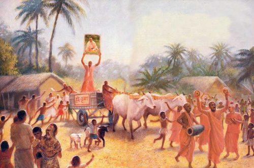 Ox Cart Sankirtana by Lokanatha Swami