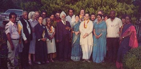 Subhananda Dasa(in White Robes) and His Wife Sitarani Devi Dasi (To His Right)