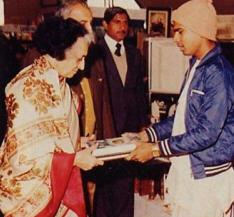 Gandhi Accepts Bhagavatam