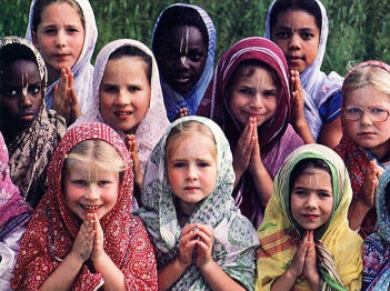 Girls at the Gurukul