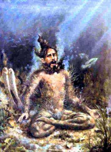 The Yogi in the River by Mathuresa Dasa