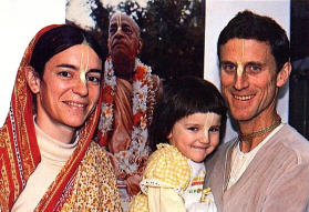 Visakha Devi Dasi and Yadubar Dasa with her Daughter