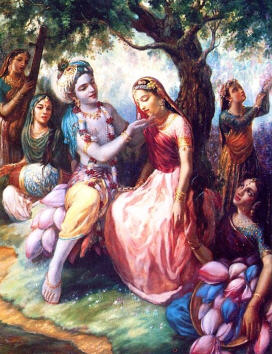 Lord Krishna with the Gopis