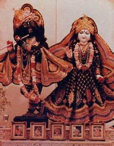 Sri Sri Radha Nila-Madhava in Houston
